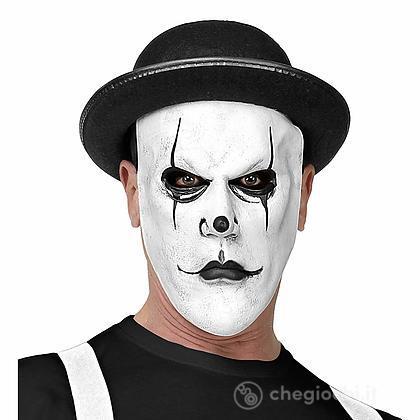 Maschera Arlecchino mezzo viso con bombetta
