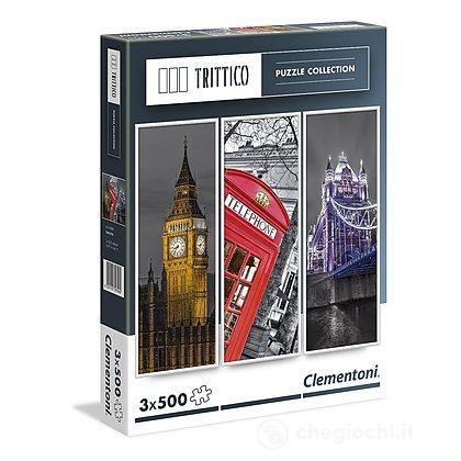 Londra Puzzle Trittico 3 x 500 Pezzi
