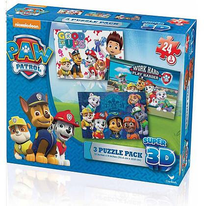 Puzzle Paw Patrol lenticolare 3D - confezione 3 puzzle (6033115)