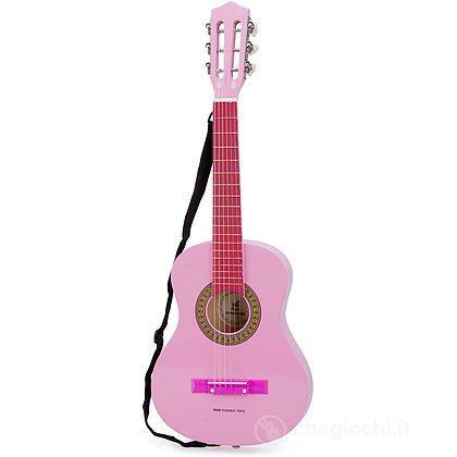 Chitarra con borsa rosa legno 75 cm (10307)
