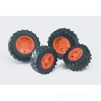 Doppie ruote cerchi arancio per PREMIUM-PRO serie (03312)