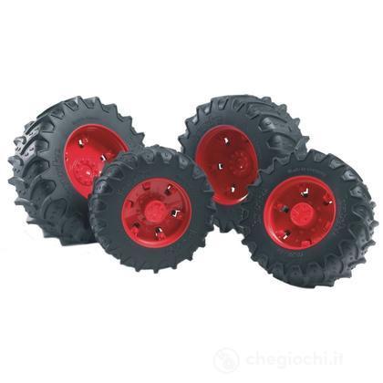 Doppie ruote cerchi rossi per PREMIUM-PRO serie (03313)
