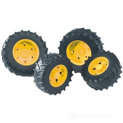 Doppie ruote cerchi gialli per PREMIUM-PRO serie (03314)