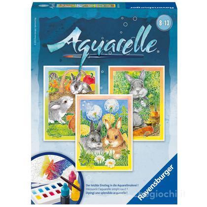 Aquarelle midi - coniglietti  (29319)