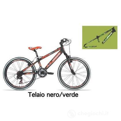 "Bici 24"" Mozia black/green"