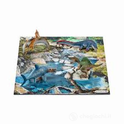 Mini dinosauri Con Puzzle Abbeverata (42330)