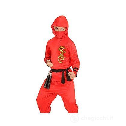 Costume Ninja Rosso 5-7 anni