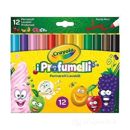 I Profumelli - 12 Pennarelli Punta Maxi Lavabili Profumati (58-8337)