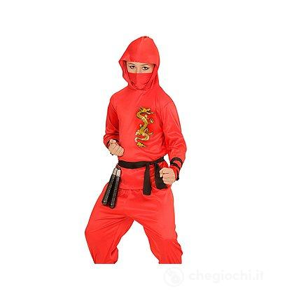 Costume Ninja Rosso 8-10 anni