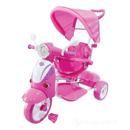 Triciclo Vespa Trico Special Rosa Con Cappottina