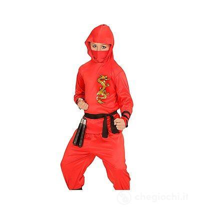 Costume Ninja Rosso 11-13 anni