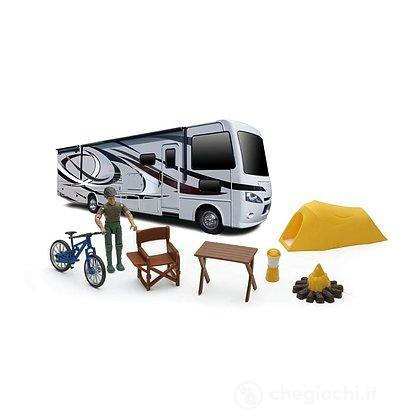Camper con accessori Camping Extreme Adventure 1:18