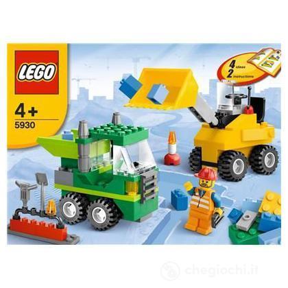 Lego mattoncini set di costruzione cantiere stradale for Cantiere di costruzione