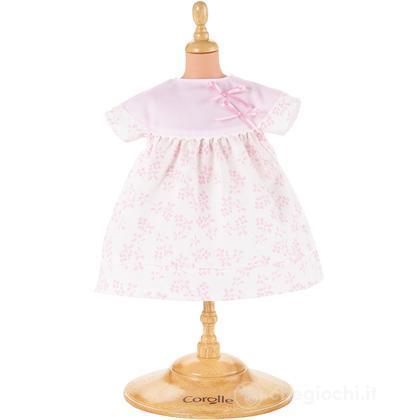 Vestito a fiori rosa medio