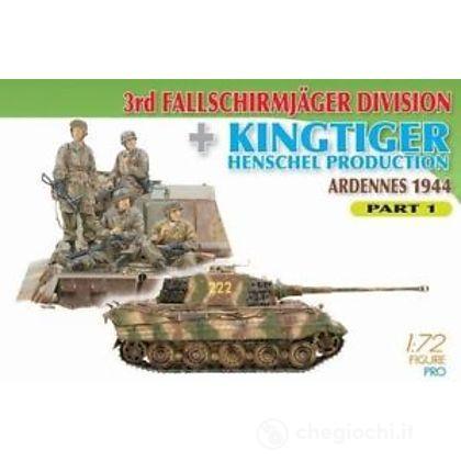 Carro Armato 3RD FJ DIV W/KINGTIGER HENSCH.. Scala 1/72 (DR7361)
