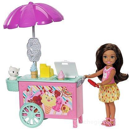 Barbie - Family - Carretto dei Gelati Chelsea - Ice Cream Car (FDB33)