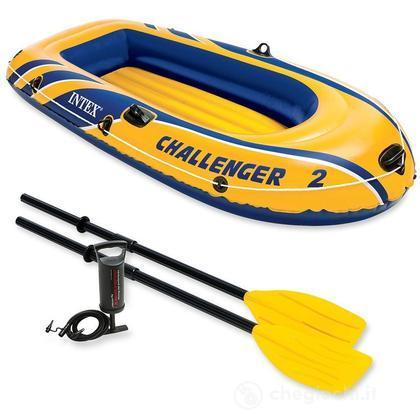 Canotto Challenger 2 set con remi e pompa cm 236x114x41 (68367)