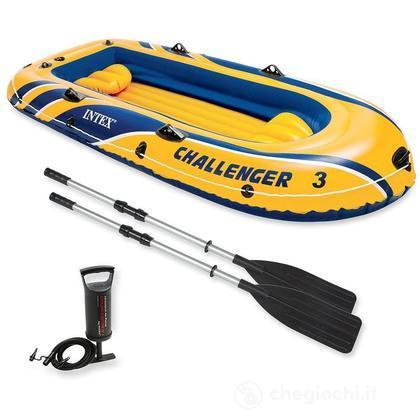 Canotto Challenger 3 set con remi e pompa cm 295x137x43 (68370)
