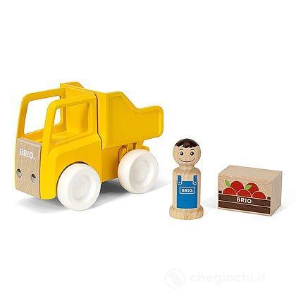 Camion con cassone ribaltabile e carico (30373)