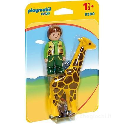 Custode Dello Zoo con Giraffa 1.2.3 (9380)