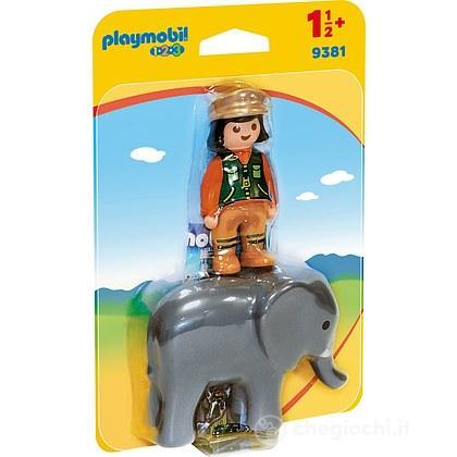 Custode Dello Zoo con Elefante 1.2.3 (9381)