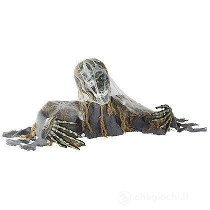 Scheletro zombie animato con testa e braccia movibili