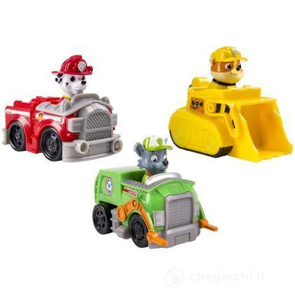 Paw Patrol Set 3 veicoli - Marshall, Rubble, Rocky (6024058)