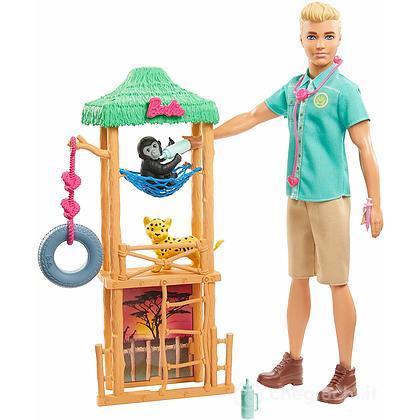 Barbie Ken Veterinario Carriere Playset(GJM33)