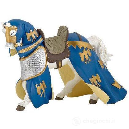 Cavallo blu drappeggiato (39391)