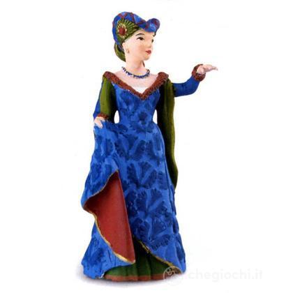 Donna medievale blu (39393)