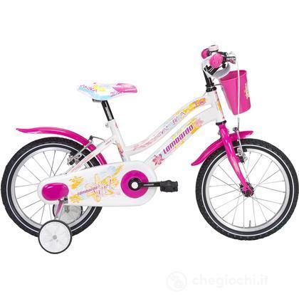 "Bici 14"" Baffy white/pink"