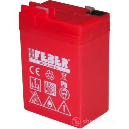 Batteria 6V, 2,5 AH (per Faster e Flash)