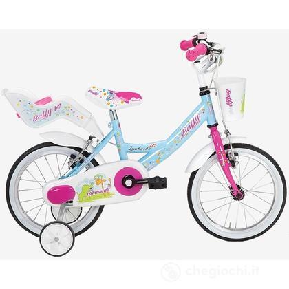 "Bici 14"" Baffy Sky/fuscsia"