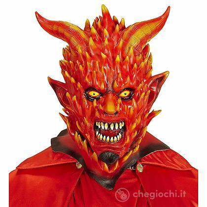Maschera Diavolo in Fiamme per Adulti, Taglia Unica