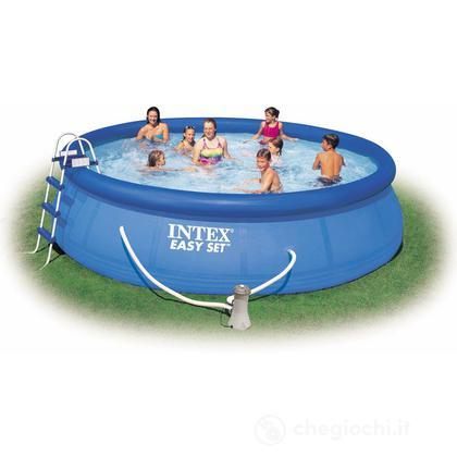 Piscina rotonda Easy Set cm 457x107 con accessori (56409)