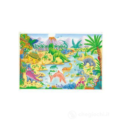 Grande puzzle pavimento: Dinosauri