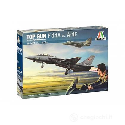 Aereo  US Navy Fighter Weapons School Top Gun F-14A Vs A4M. Scala 1/72 (IT1422)