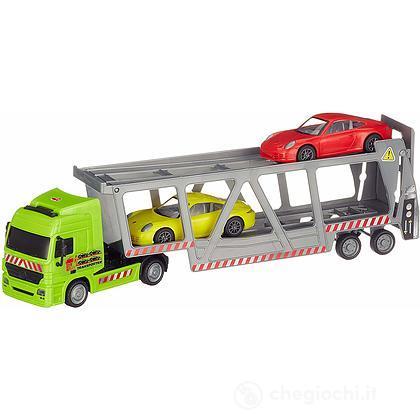 Camion Bisarca 38 cm, Con 2 Porsche Scala 1:43