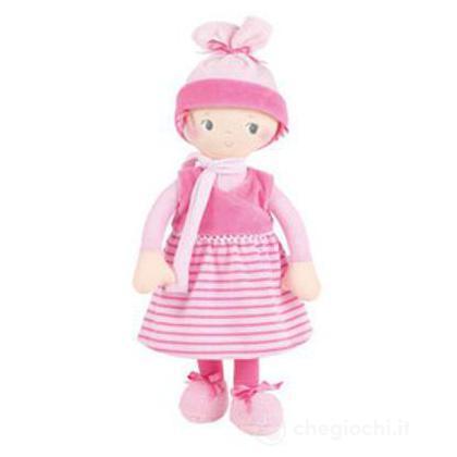 Bambola a righe rosa