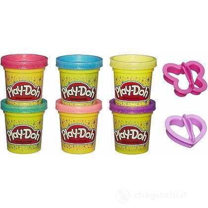 Play-Doh Glitter 6 Vasetti
