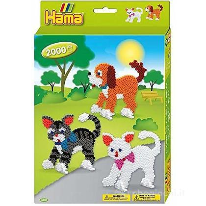 Hama Perline Da Stirare - Hanging Box - cani e gatti
