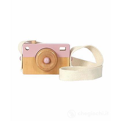 Macchina fotografica in legno rosa (LD4435)