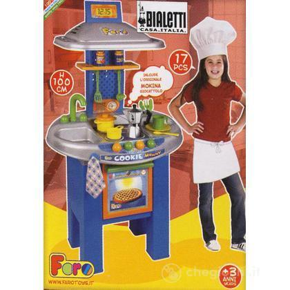 Cucina con moka Bialetti