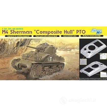 Carro Armato M4 SHERMAN COMPOSITE HULL PTO 1/35 (DR6441)