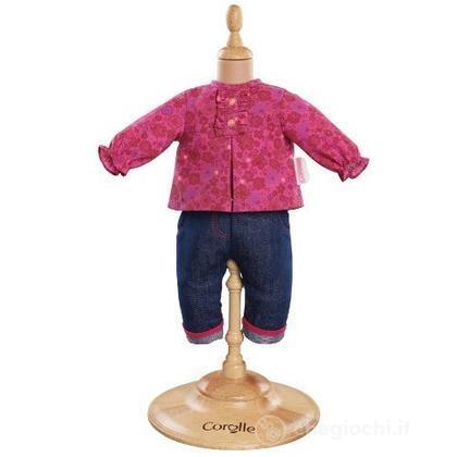 Camicia fucsia e jeans (Y5458)
