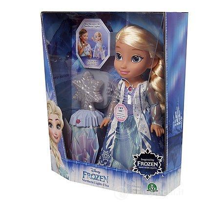 Frozen Bambola Elsa Luci del Nord Interattiva con Canzone (FRN35000)