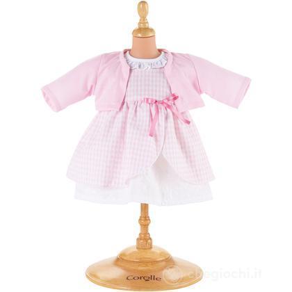 Vestito rosa medio