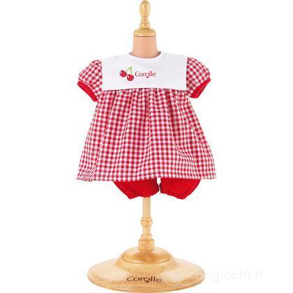 Vestito rosso ciliege medio