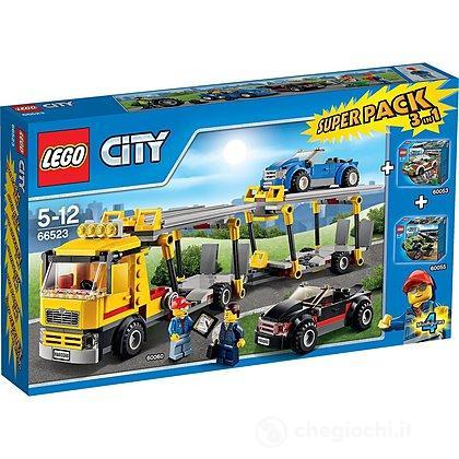 Super Pack Lego City 3 in 1 60060 + 60053 + 60055 (66523)