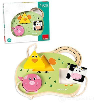 Puzzle 3 animali fattoria (53452)